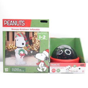 5 Ft Peanuts LED Airblown Inflatable Shadow Lights